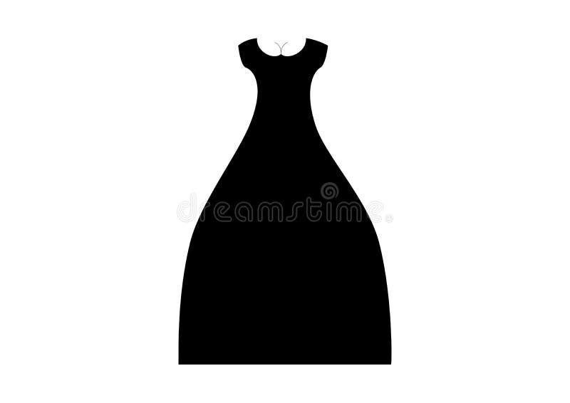 Vestido de noche del ` s de las mujeres con los pechos stock de ilustración