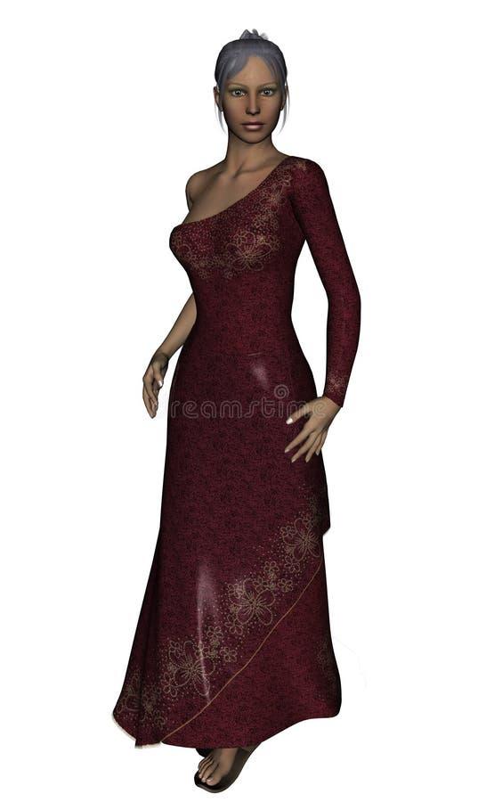 Vestido de noite ilustração royalty free