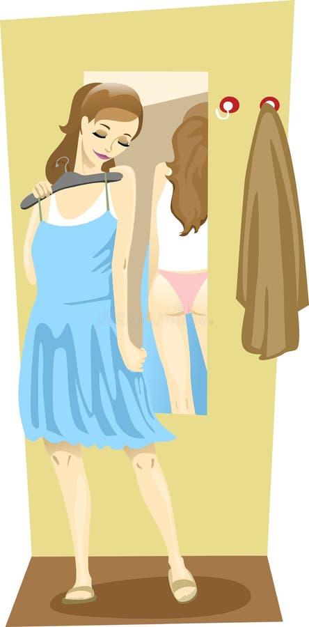 Vestido de noite de turquesa ilustração stock