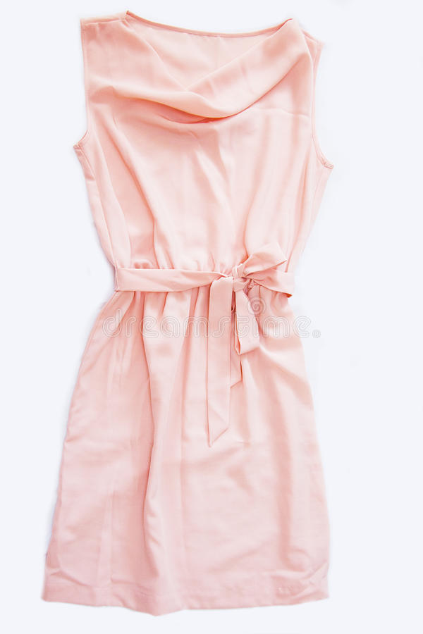 Vestido de seda cor-de-rosa foto de stock