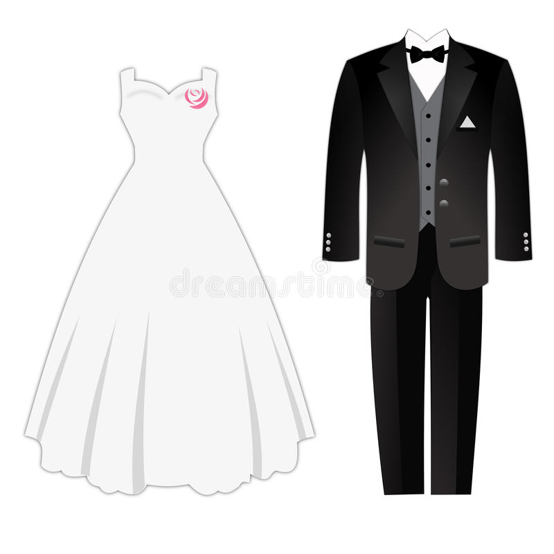 Vestido de Weddig ilustração royalty free