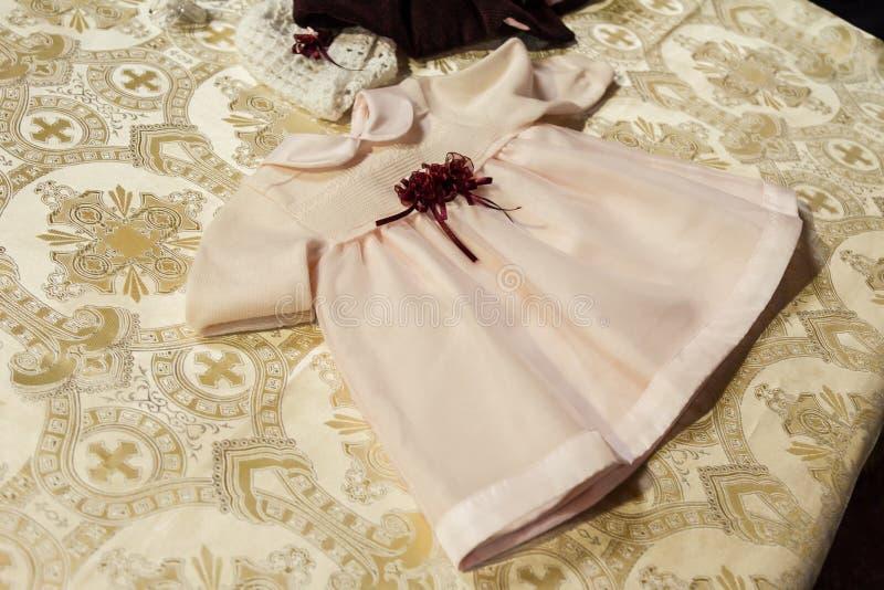 Vestido del bebé foto de archivo libre de regalías