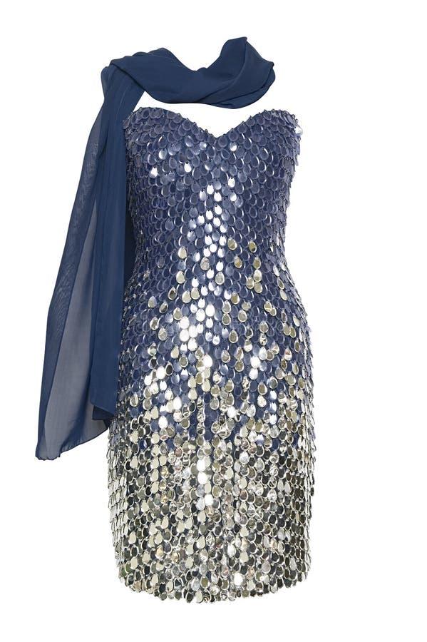 Vestido del lue del evento imagen de archivo