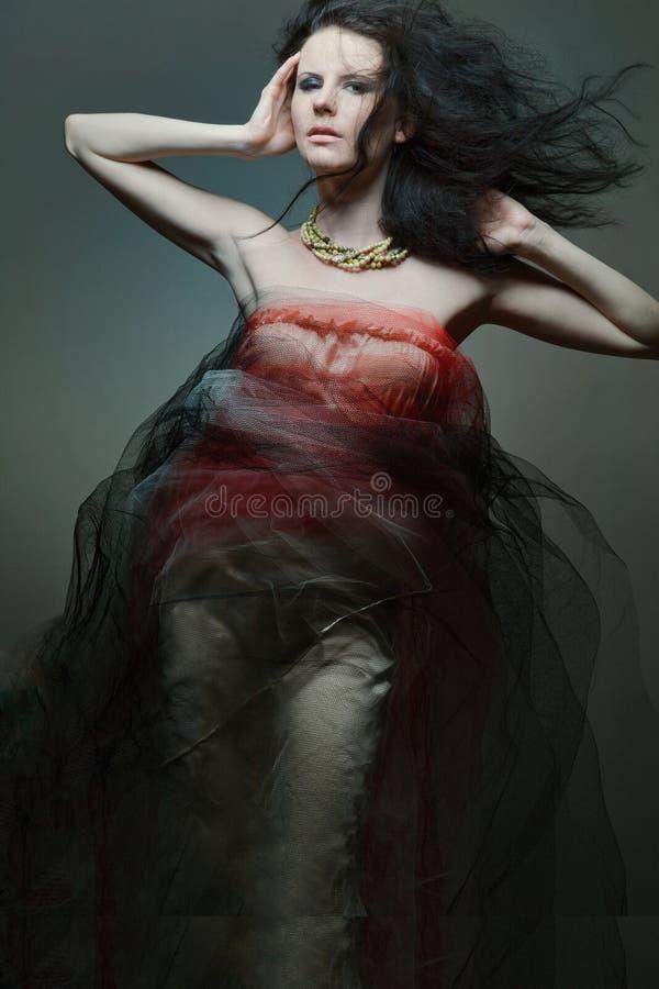 Vestido desgastando novo do desenhador do modelo de forma. fotos de stock royalty free