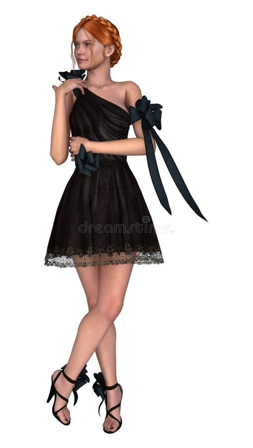 Vestido do baile de finalistas ilustração do vetor