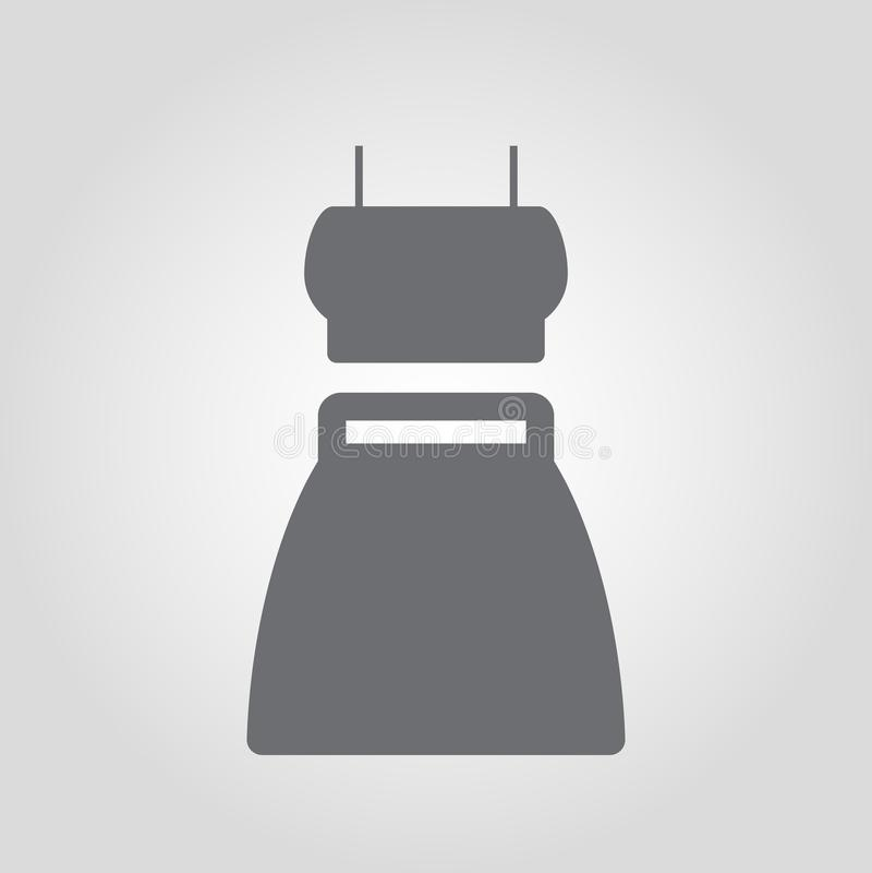 Vestido do verão com ícone das correias ilustração do vetor