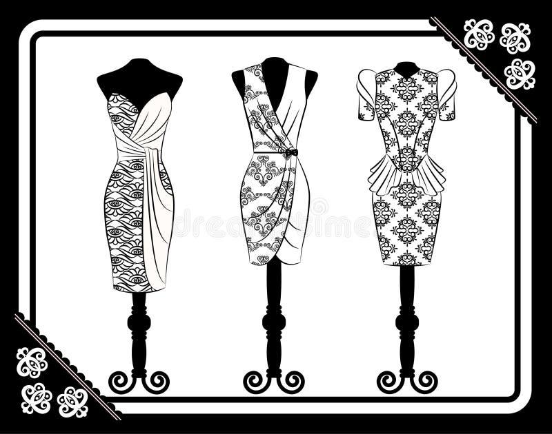 Vestido do vintage ilustração stock