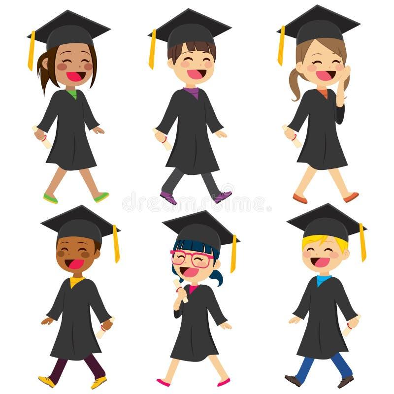 Vestido dos estudantes das crianças ilustração stock