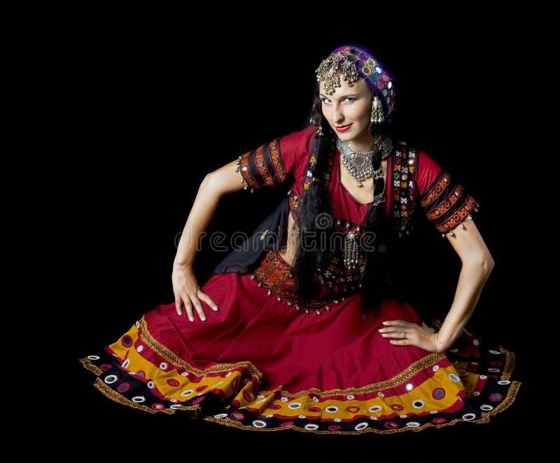 Vestido indiano da tradição foto de stock
