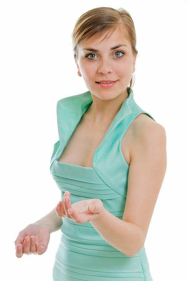 Vestido Light-green imagem de stock