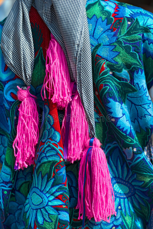 Vestido mexicano - Zinacantan Chiapas México imagens de stock royalty free