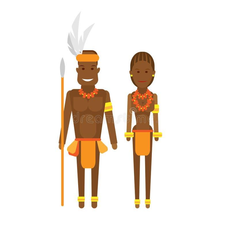 Vestido nacional de Suráfrica ilustración del vector