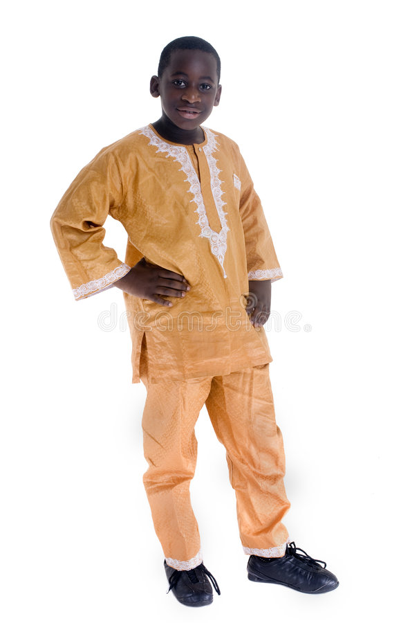 Vestido nativo africano foto de stock royalty free