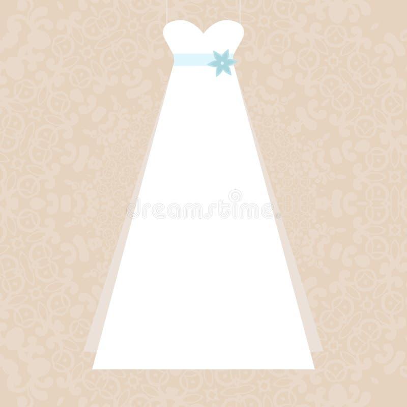 Vestido nupcial ilustración del vector
