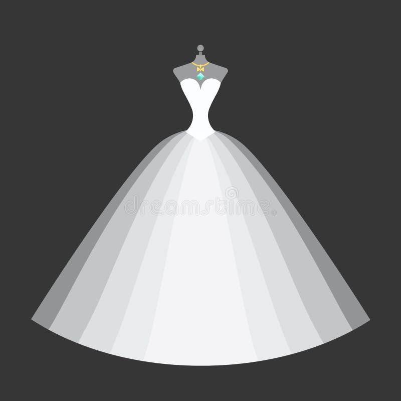 Vestido nupcial em um manequim ilustração stock