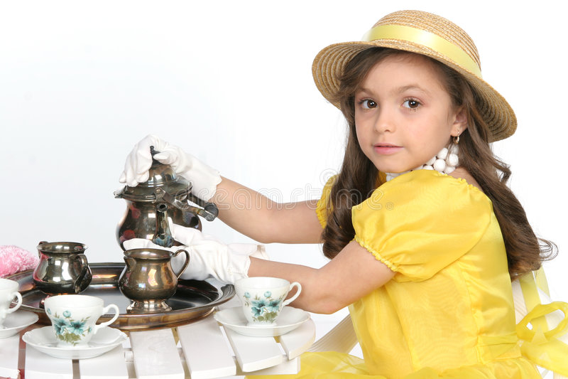Vestido para o chá fotos de stock royalty free