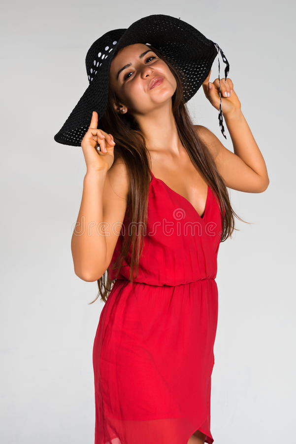 Vestido Rojo Imagenes de archivo