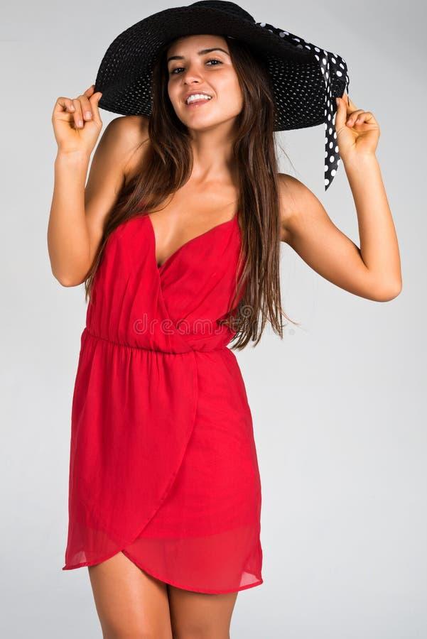Vestido Rojo Fotos de archivo