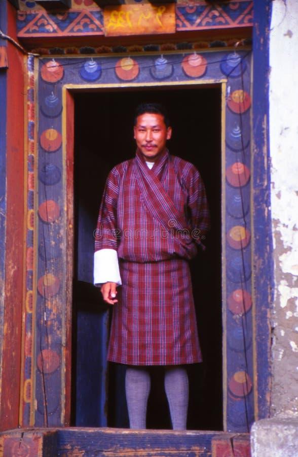 Vestido tradicional de Bhután imagen de archivo