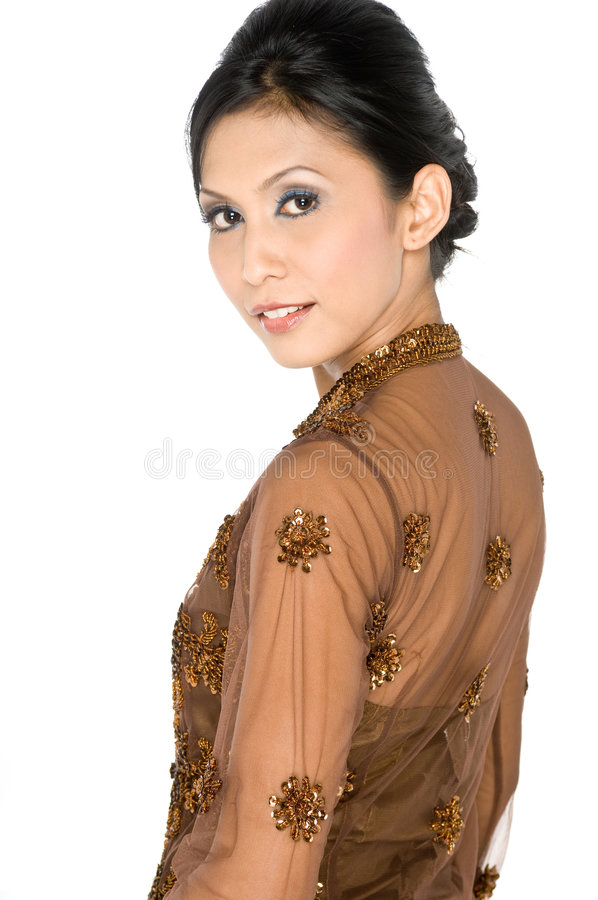 Vestido tradicional do Malay imagem de stock royalty free