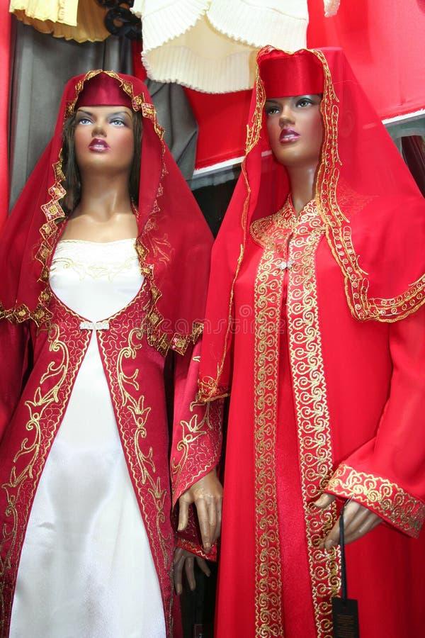 Vestido tradicional do turco fotografia de stock