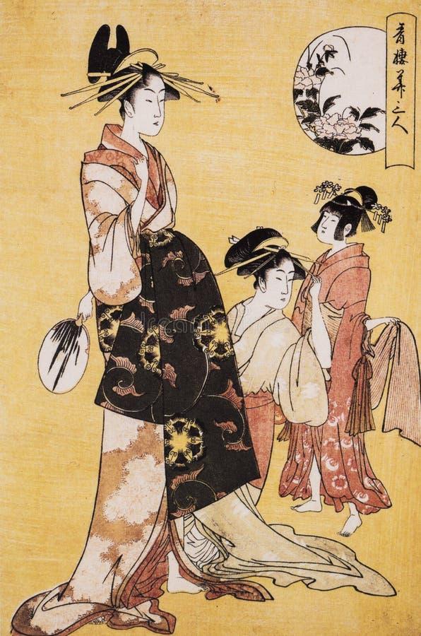 Vestido tradicional japonés antiguo imagen de archivo libre de regalías