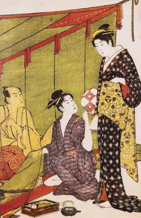 Vestido tradicional japonés antiguo fotografía de archivo