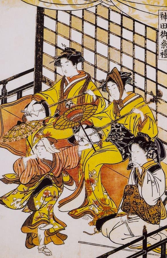Vestido tradicional japonés antiguo foto de archivo libre de regalías