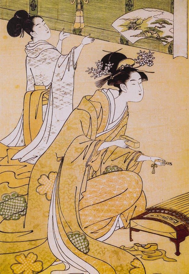 Vestido tradicional japonés antiguo imágenes de archivo libres de regalías