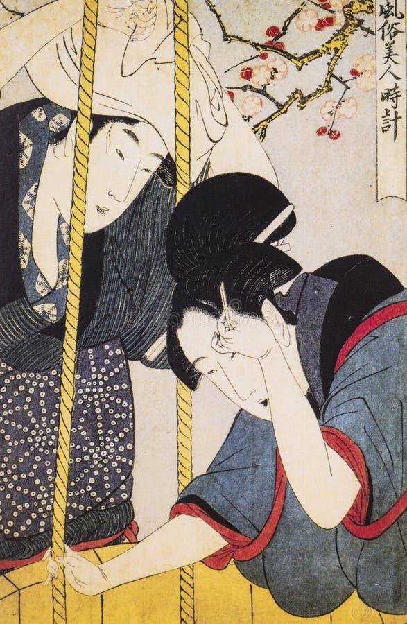 Vestido tradicional japonés antiguo foto de archivo