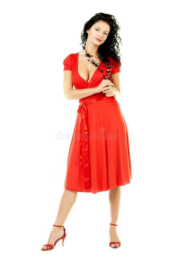 Vestido vermelho imagens de stock royalty free
