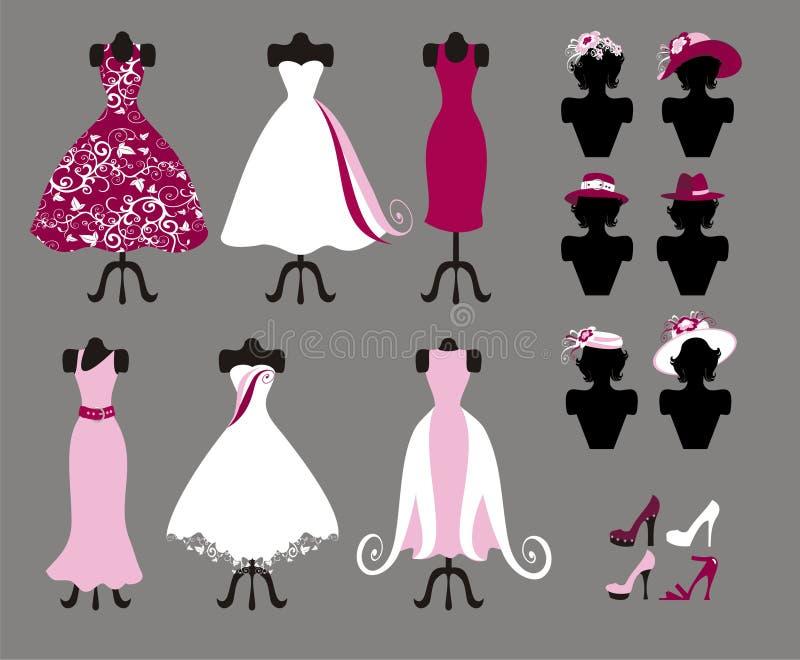 Vestidos ilustração stock