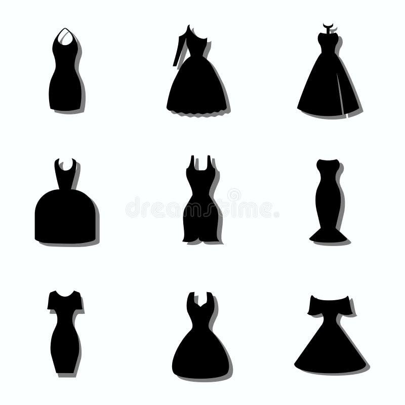 vestidos ilustração do vetor