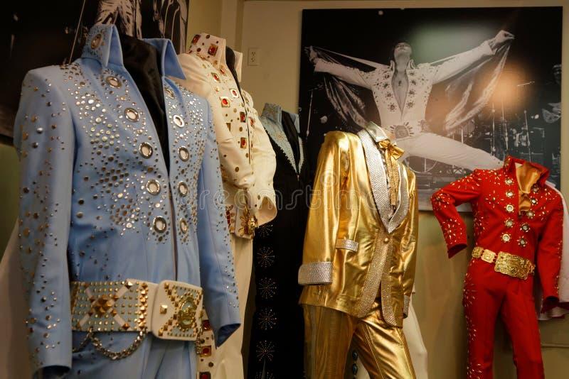 Vestidos da cena de Elvis Presley foto de stock