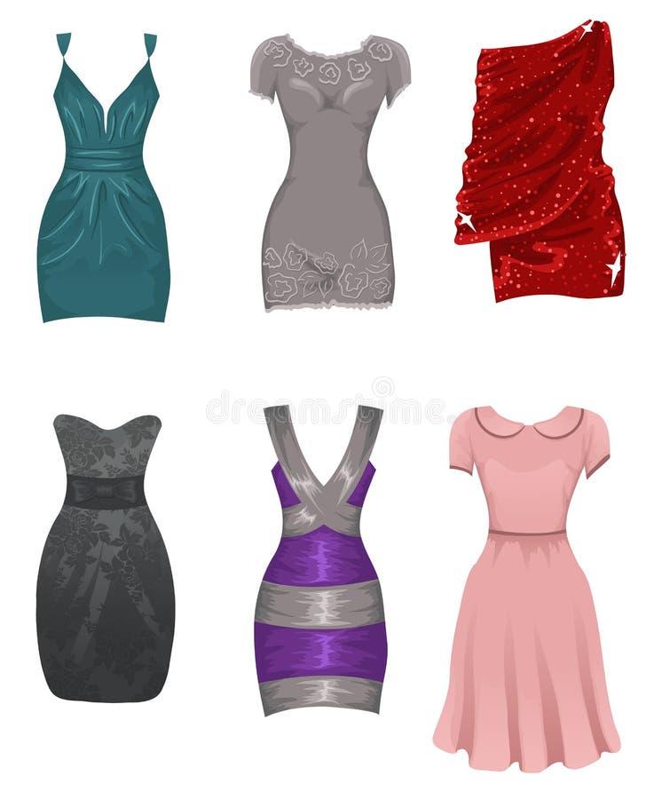 Vestidos fêmeas ilustração royalty free