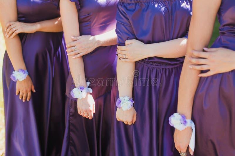 Vestidos roxos fotografia de stock