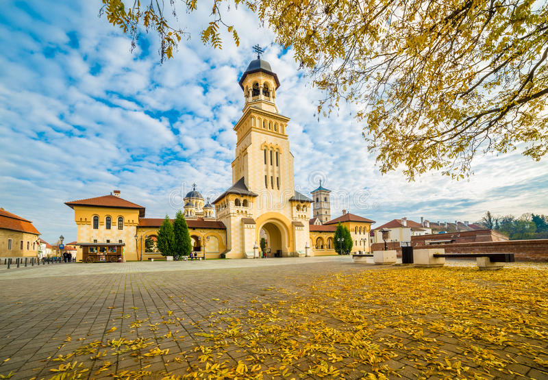 Vesting van Alba Iulia, Transsylvanië, Roemenië stock foto's