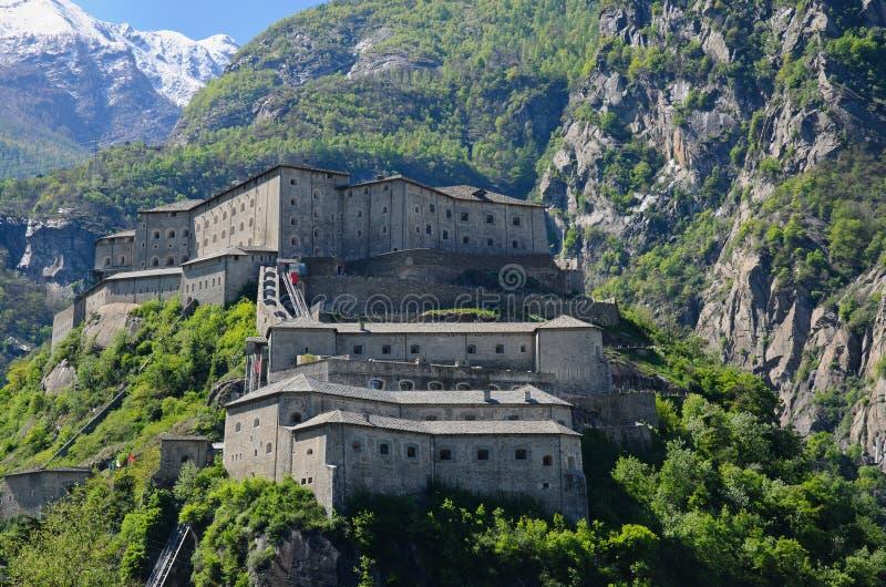 Vesting van Bard - Aosta-Vallei - Italië royalty-vrije stock afbeelding