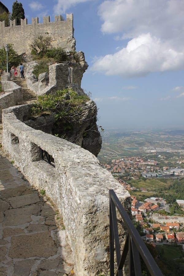 Download Vesting Van Guaita En Mening Van De Stad Van San Marino Stock Foto - Afbeelding bestaande uit museum, toerisme: 29506840