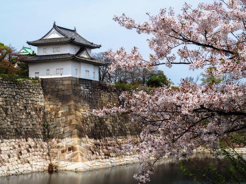 Vesting van het kasteel van Osaka royalty-vrije stock foto's