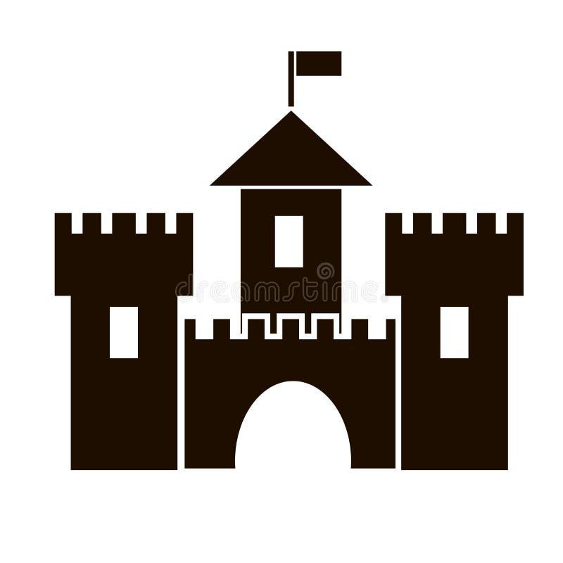 Vestingspictogram, middeleeuws kasteel stock illustratie