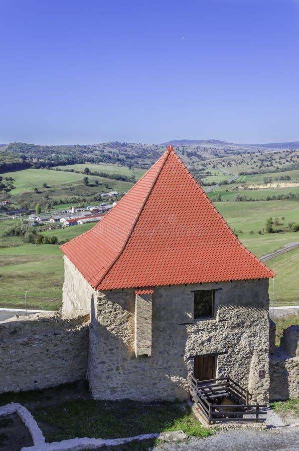 Vestingstoren, Citadel van Rupea stock foto