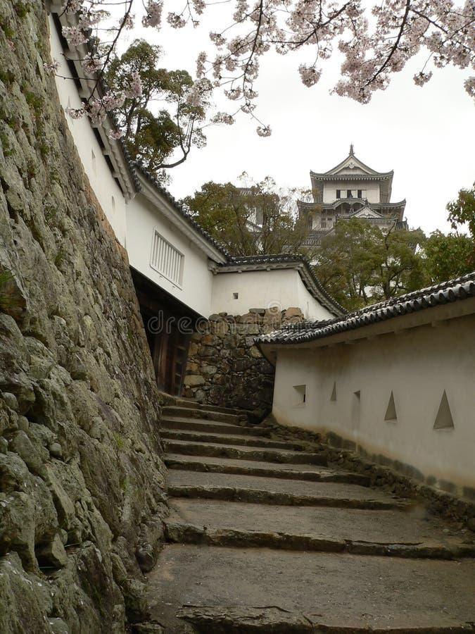 Vestingwerken, het Kasteel van Himeji, Japan stock foto's
