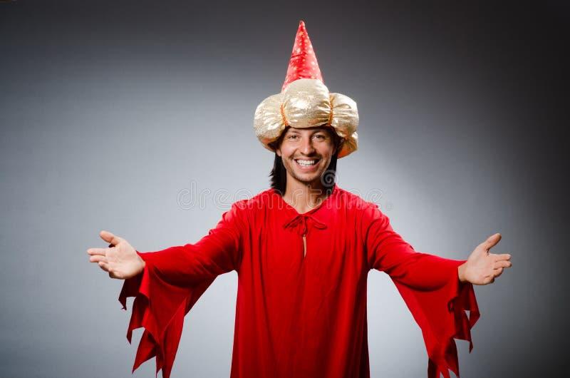 Vestir engraçado do feiticeiro fotos de stock
