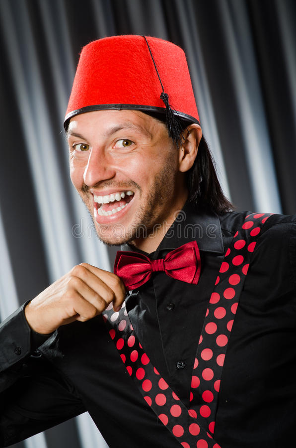 Vestir engraçado do homem imagem de stock royalty free