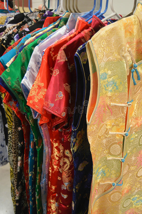 Vestiti asiatici fotografie stock libere da diritti