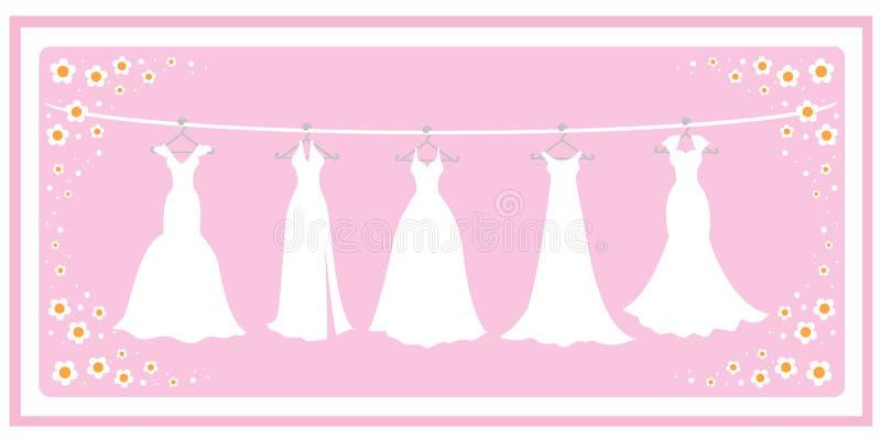 Vestiti da cerimonia nuziale royalty illustrazione gratis
