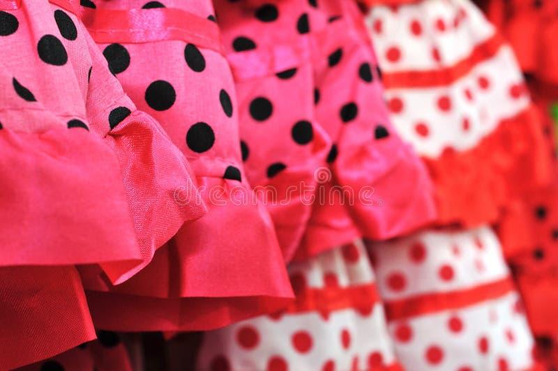 Vestiti da flamenco immagine stock