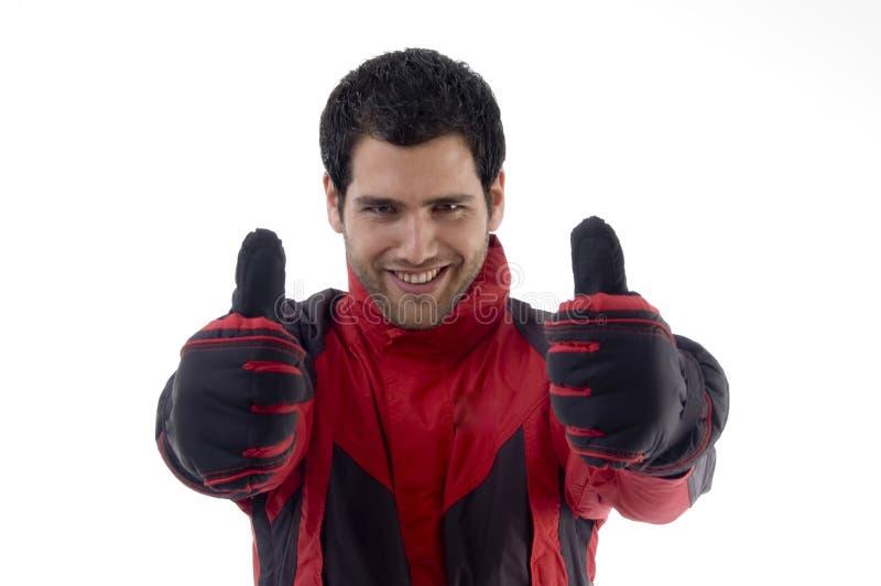 Vestiti da portare di inverno dell'uomo casuale immagini stock