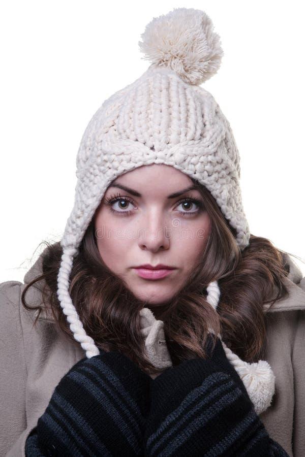 Vestiti da portare di inverno della donna fotografia stock